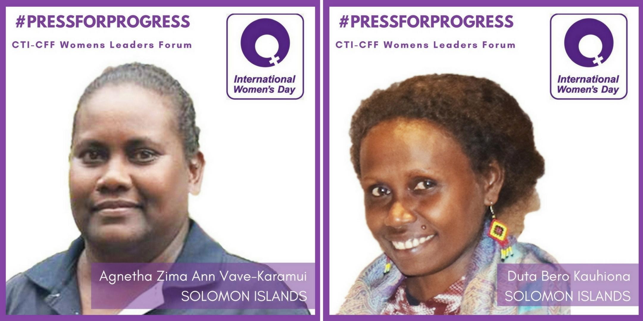 WLF profiles Agnetha and Duta Solomon Islands