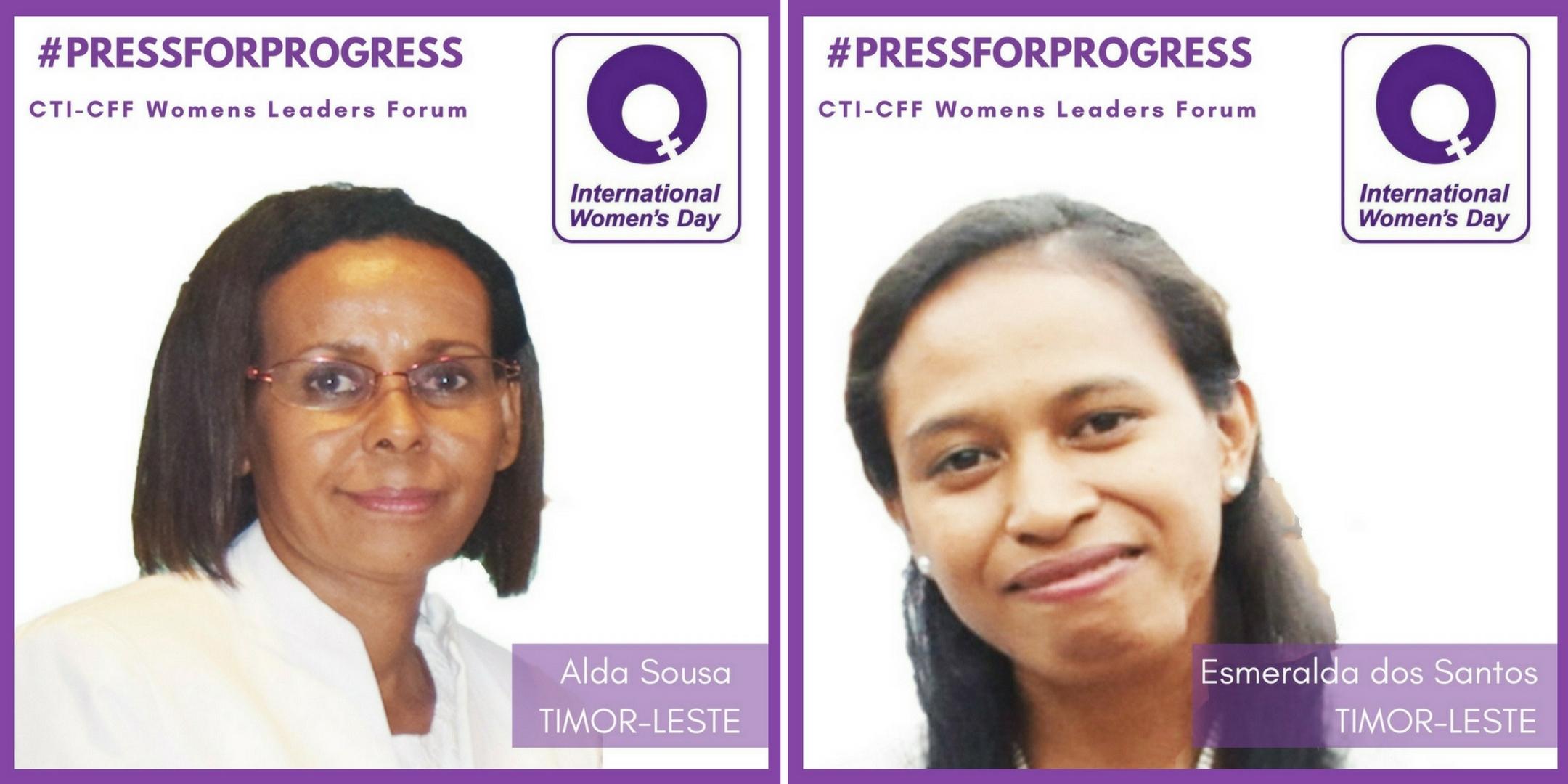WLF profiles Alda and Esme Timor Leste