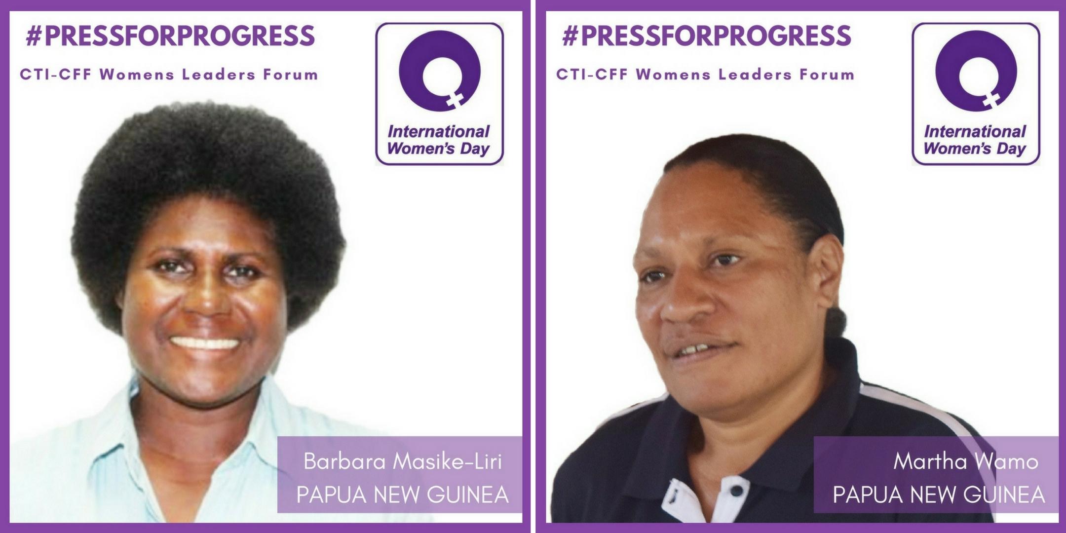 WLF profiles Barbara and Martha PNG